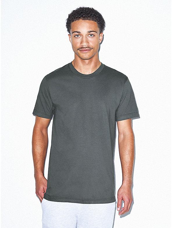 Tri blend lounge short american apparel for American apparel fine jersey crewneck t shirt