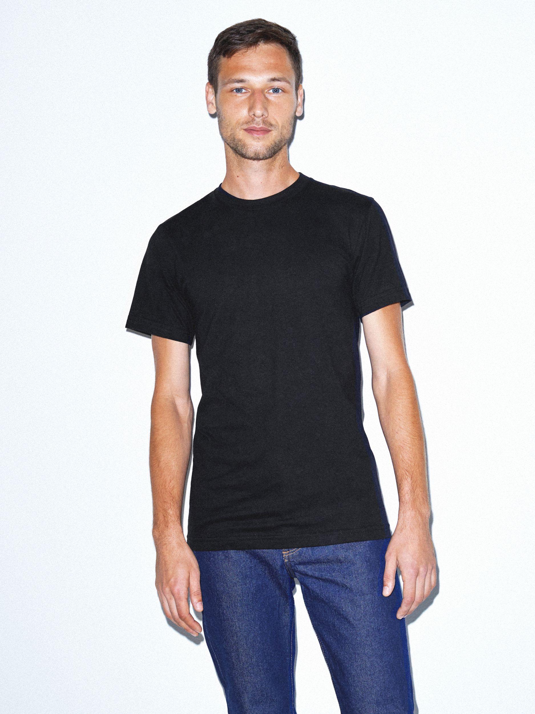 Fine Jersey Crewneck T-Shirt | Tuggl