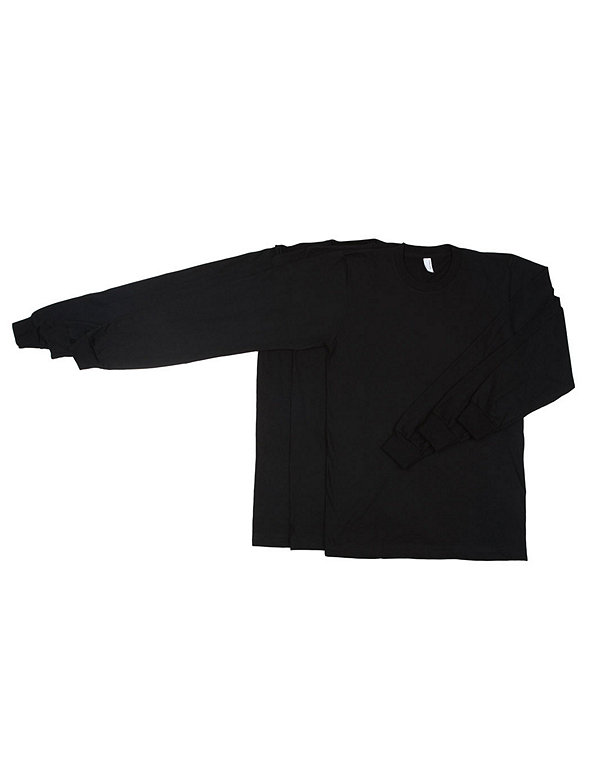 Fine Jersey Long Sleeve T-Shirt (3-Pack)