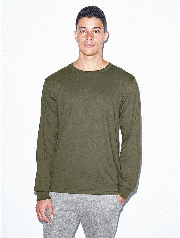 Fine Jersey Crewneck Long Sleeve T-Shirt