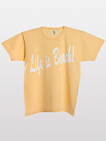 Screen Printed Power Washed Tee-Life is Beach