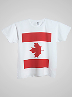 Screen Printed Power Washed Tee- Canada