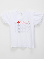 Screen Printed Power Washed Tee Canada Letters