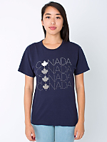 Unisex Screen Printed Power Washed Tee Canada Letters