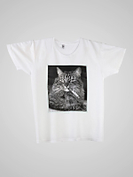 Screen Printed Power Washed Tee-Cool Cat