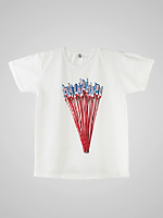 Screen Printed Power Washed Tee - Fireworks