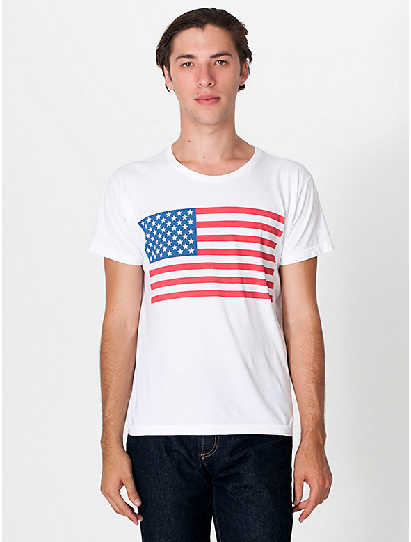 Screen Printed Power Washed Flag Tee