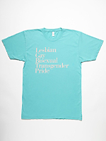 Screen Printed Power Washed LGBT Tee