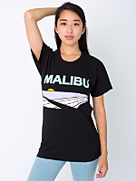 Unisex Screen Printed Power Washed Tee - Malibu