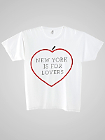 Screen Printed Power Washed Tee- NYC Lovers