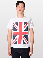 Union Jack Print Power Washed Tee