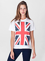 Unisex Union Jack Print Power Washed Tee
