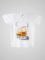 Screen Printed Power Washed Tee - Whiskey on the Rocks