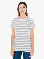 Fine Jersey Stripe Short Sleeve Women's T