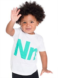 Kids' Helvetica Alphabet Fine Jersey Short Sleeve T