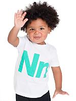 Kids Helvetica Alphabet Fine Jersey Short Sleeve T