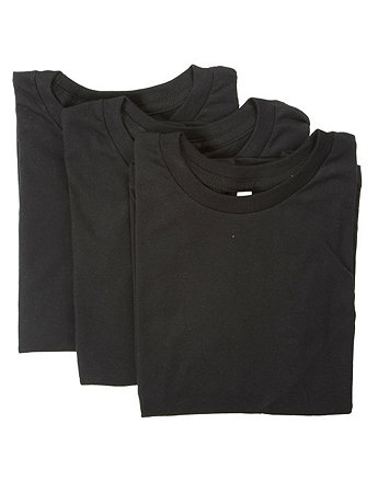 Kids Fine Jersey Short Sleeve T (3-Pack)