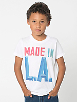 Screen Printed Kids Fine Jersey Short Sleeve T-Shirt - Made in LA