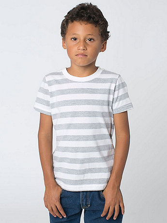Kids Stripe Fine Jersey Short Sleeve T