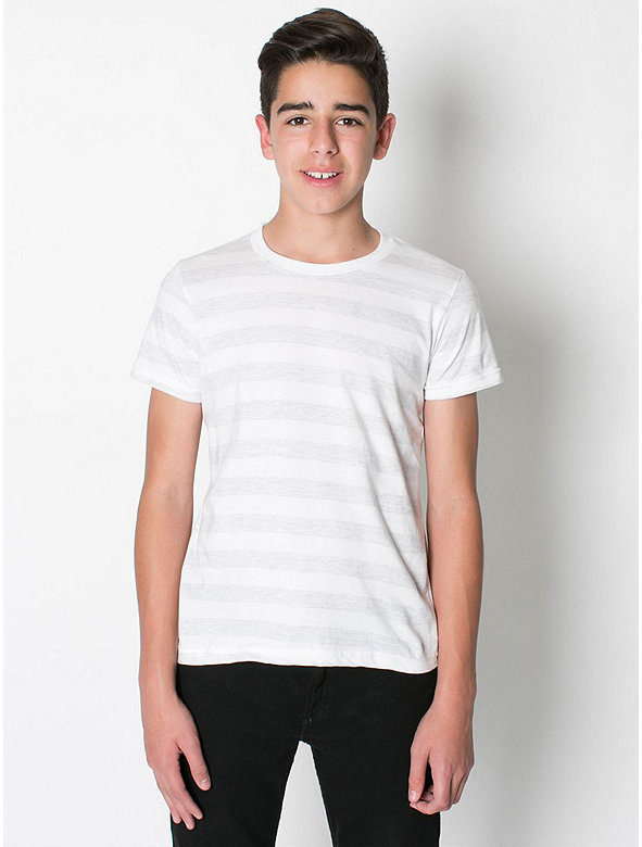 Youth Stripe Fine Jersey Short Sleeve T-Shirt