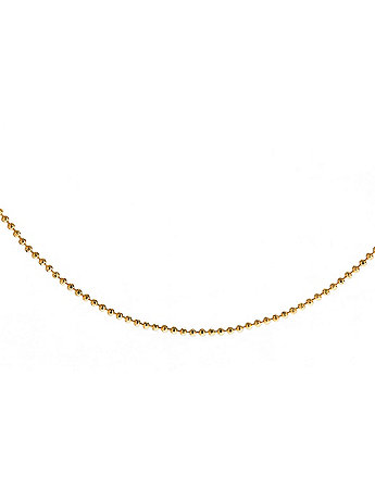 22Kt Gold Tone Bead Anklet