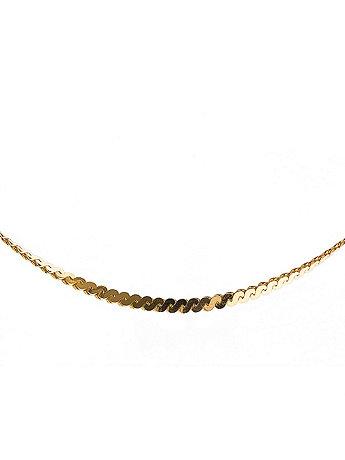 22Kt Gold Tone Serpentine Anklet