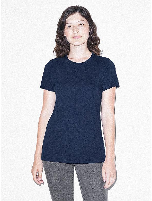 Fine jersey classic crewneck t shirt american apparel for American apparel fine jersey crewneck t shirt