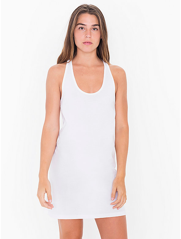 Fine Jersey Racerback Tank Mini Dress