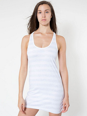 Fine Jersey Stripe Racerback Tank Dress