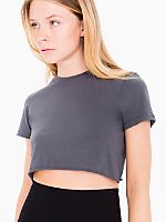 Fine Jersey Short Sleeve Cropped T-Shirt