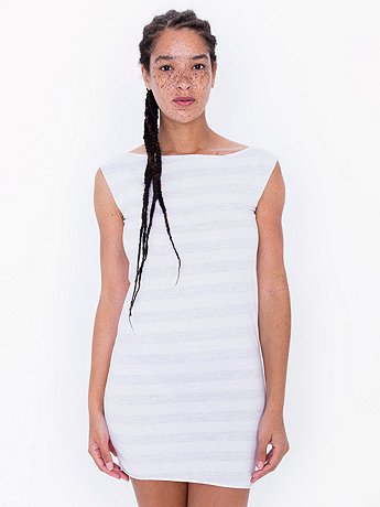 Fine Jersey Stripe T Dress