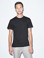 Unisex Fine Jersey Pocket Short Sleeve T-Shirt