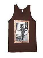 Screen Printed Fine Jersey Tank - Snoop Gold Frame