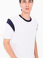 Fine Jersey Contrast Inset Short Sleeve T-Shirt