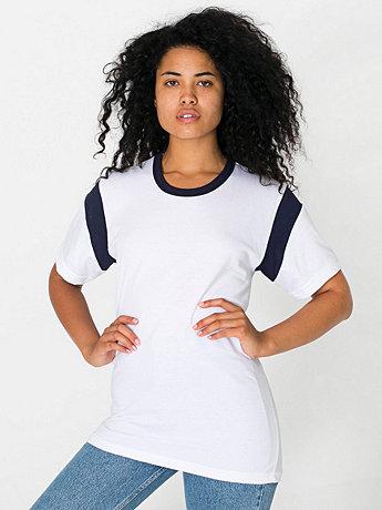 Unisex Fine Jersey Contrast Inset Short Sleeve T-Shirt