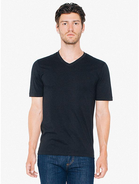 Organic Fine Jersey Short Sleeve Classic V-Neck