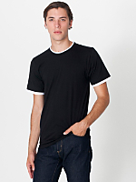 Fine Jersey Mock Double S/S T-Shirt