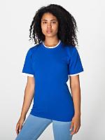Unisex Fine Jersey Mock Double S/S T-Shirt