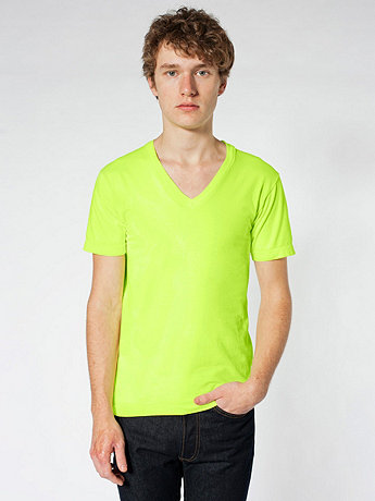 Highlighter Fine Jersey Short Sleeve V-Neck