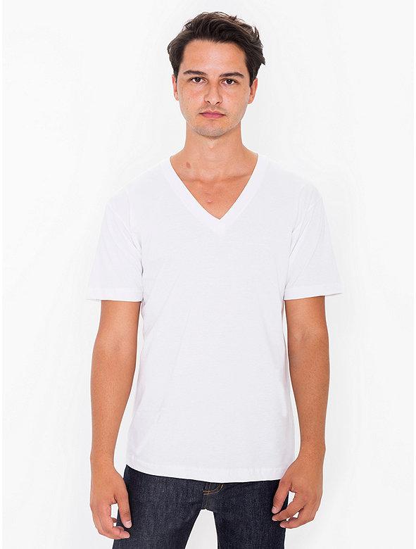 Organic Fine Jersey V-Neck T-Shirt