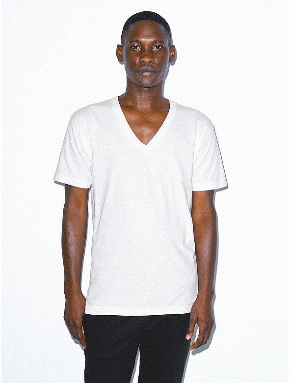 Unisex Fine Jersey Short Sleeve V-Neck