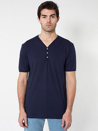 Fine Jersey Short Sleeve Henley