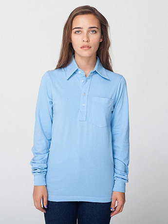 Unisex Fine Jersey Long Sleeve Leisure Shirt