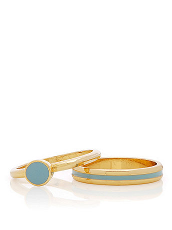 Baby Blue Stacking Two Ring Set