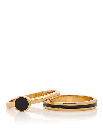 Black Stacking Two Ring Set