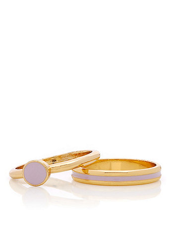 Lilac Stacking Two Ring Set