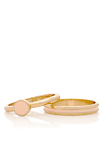 Light Pink Stacking Two Ring Set