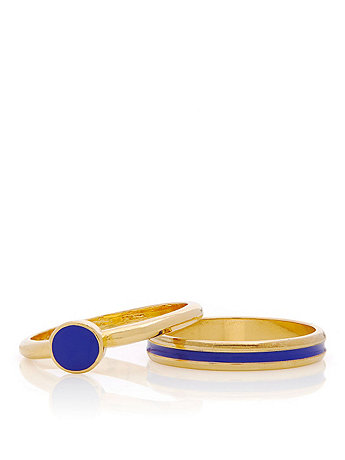 Royal Blue Stacking Two Ring Set