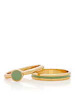 Spring Green Stacking Two Ring Set
