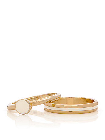 White Stacking Two Ring Set
